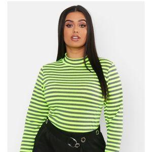 Plus neon striped shirt